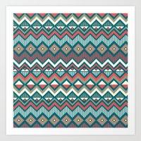 aztec Art Prints featuring Aztec. by Priscila Peress