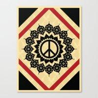 Peace Mandala Canvas Print