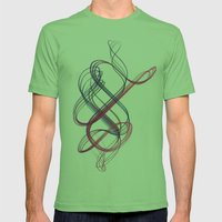 spiral Mens Fitted Tee Grass SMALL