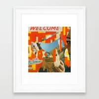 Welcome Surveyor Framed Art Print