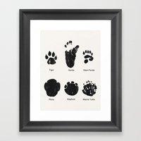 Animal Track Framed Art Print