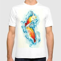 Fire Goby Mens Fitted Tee White SMALL