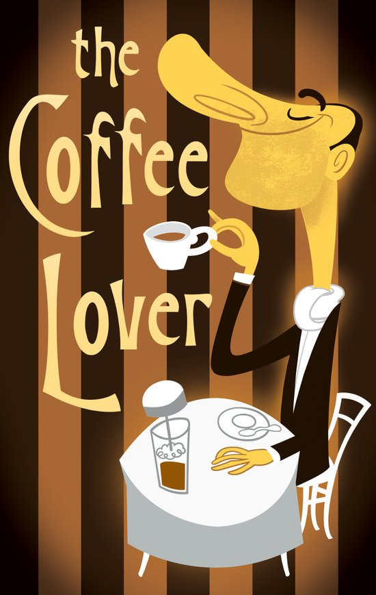 The Coffee Lover Art Print