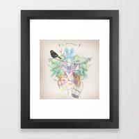 Au Printemps Framed Art Print