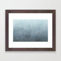 Ocean - Textured Pattern Framed Art Print