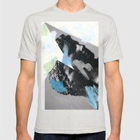 Untitled (Painted Composition 1) Mens Fitted Tee Silver SMALL