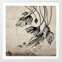 Drooping leaves Art Print
