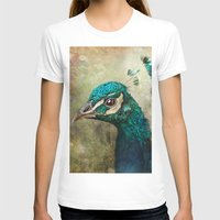 peacock T-shirts featuring Peacock by Pauline Fowler ( Polly470 )