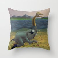 The truth of Loch Ness Throw Pillow