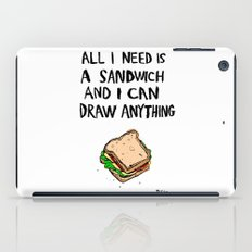 All I Need Is A Sandwich iPad Case