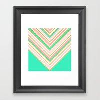 Modern Boho Pink Gold Tu… Framed Art Print