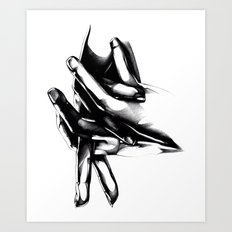 The Places We'll Go [Black and White] Art Print