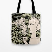 Cafe Drawing Tote Bag