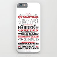 "iPhone & iPod Case featuring Steve Jobs ""Focus and simplicity"" quote print by One Six Eight One"