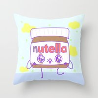 Nutella Throw Pillow