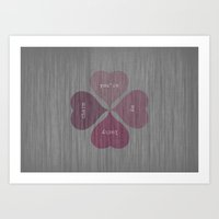 YOU'RE MY LUCKY CHARM  Art Print