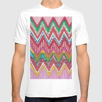 Peruvian Waves Mens Fitted Tee White SMALL