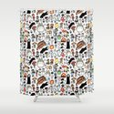 Kawaii Ghibli Doodle Shower Curtain