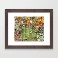 Crimson Petal's Lying … Framed Art Print