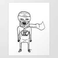 Superhero PK. Art Print