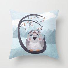 Whimsical Bird Throw Pillow