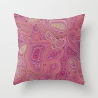Mineralicious-Pink Agate Throw Pillow