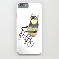 bike iPhone & iPod Cases featuring Deer on Bike.  by Ashley Percival illustrator