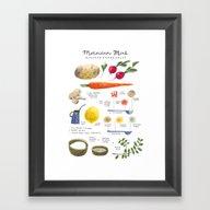 Illustrated Recipes: Mor… Framed Art Print