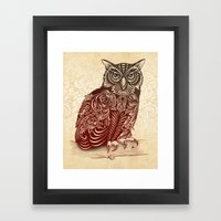 Most Ornate Owl Framed Art Print