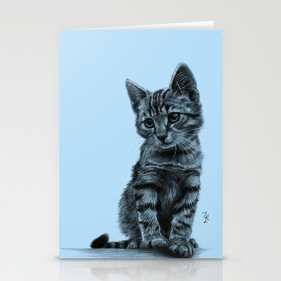 Kitty - PENCIL DRAWING  Stationery Card