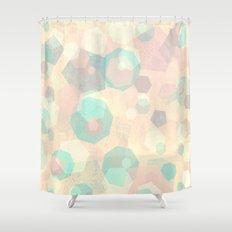 Pastel Geometric Pattern No 1  Shower Curtain