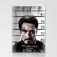 Tony Stark jailed Stationery Cards