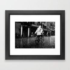 No Hands Framed Art Print