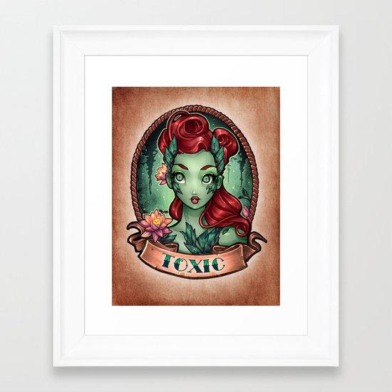 TOXIC pinup Framed Art Print