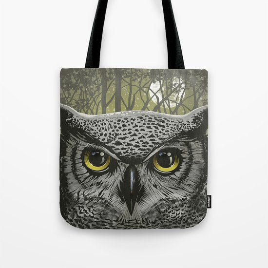 Moon Owl Tote Bag