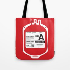 My Blood Type is A, for Awesome! Tote Bag