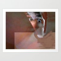 Abstraction Of A Man (cl… Art Print