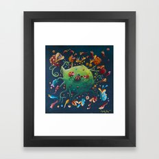 fishes are born in carnivorous the plants Framed Art Print