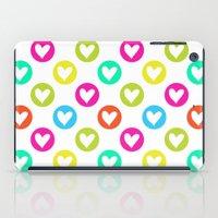 Colorful hearts  iPad Case