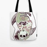 handskull Tote Bag