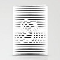 wirbelnde sonne Stationery Cards