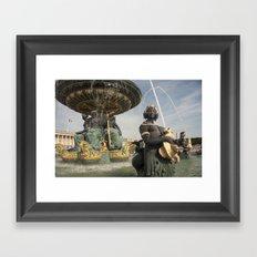 Paris Fountains  Framed Art Print