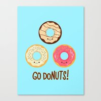 Go doNUTS! Canvas Print