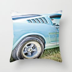 1966 Ford Mustang Fastback Car Throw Pillow