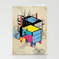 Rubik's building - Vienna 2044 Stationery Cards