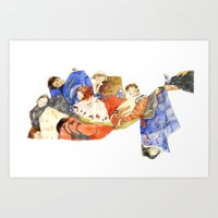 dream catcher Art Prints featuring dream catcher  by jenn l