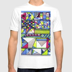 Neon Textures Mens Fitted Tee White SMALL