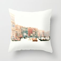 Venice, Italy Surreal Grand Canal Throw Pillow