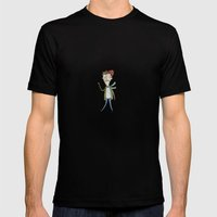 Man In Winter Mens Fitted Tee Black SMALL