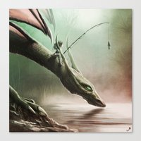 Fishing On The Drinking … Canvas Print